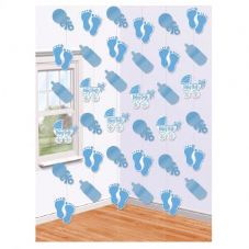Blue Baby Feet String Decoration